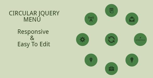 Circular JQuery Menu - CodeCanyon Item for Sale