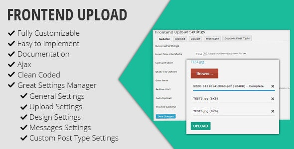 Frontend Upload - CodeCanyon Item for Sale