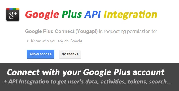 Google Plus Connect and API Integration - CodeCanyon Item for Sale