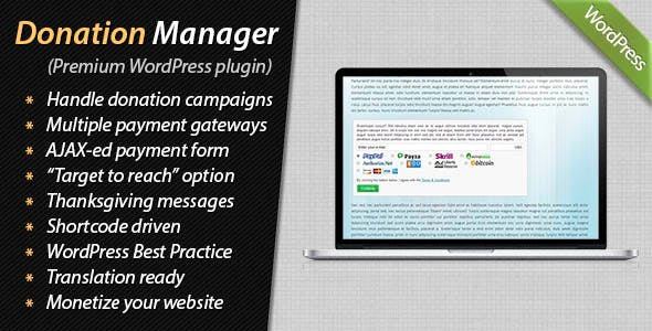 Donation Manager for WordPress