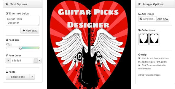 Guitar Picks Designer