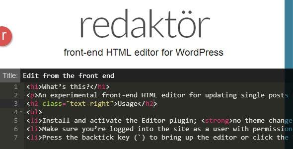 Redaktor Front-End HTML Editor - CodeCanyon Item for Sale