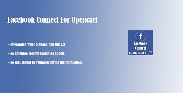Facebook Connect for Opencart - CodeCanyon Item for Sale