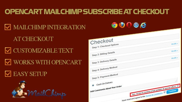 MailChimp Subscribe at Checkout for OpenCart - CodeCanyon Item for Sale