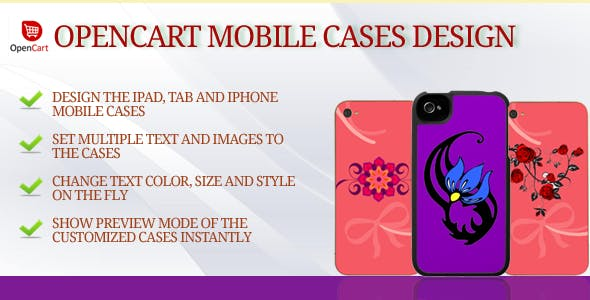 Mobile Case Design and Personalized for OpenCart