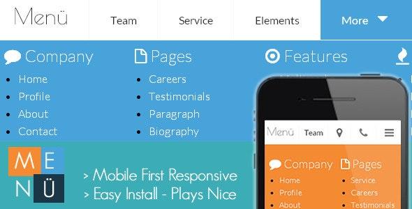 Menü - Mobile First Responsive Menu - CodeCanyon Item for Sale