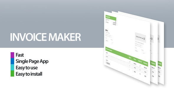 Invoice Maker/Creator - CodeCanyon Item for Sale