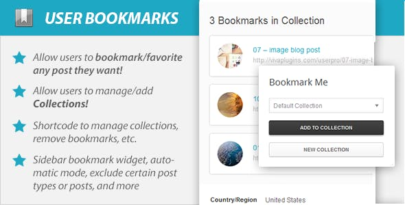 WordPress User Bookmarks for UserPro        Nulled