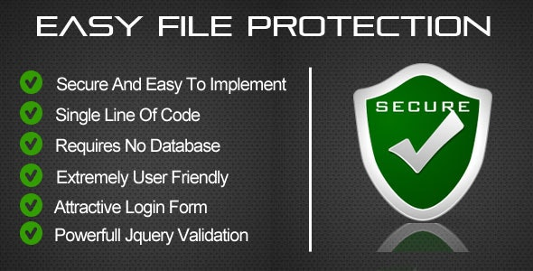 Easy File Protection - PHP - CodeCanyon Item for Sale