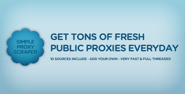 SimpleProxyScraper - Get Tons Of Fresh Proxies