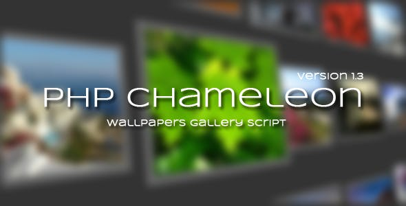 PHP Chameleon - Wallpapers Gallery Script