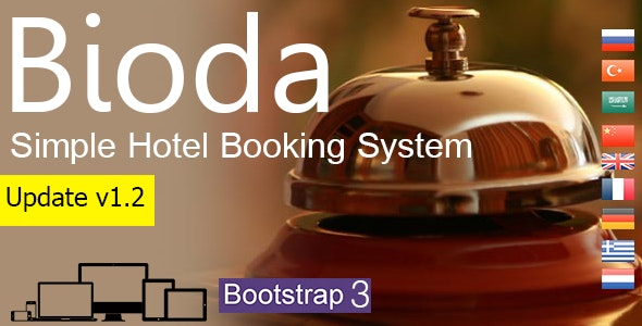 Bioda - Simple Hotel Booking System - CodeCanyon Item for Sale