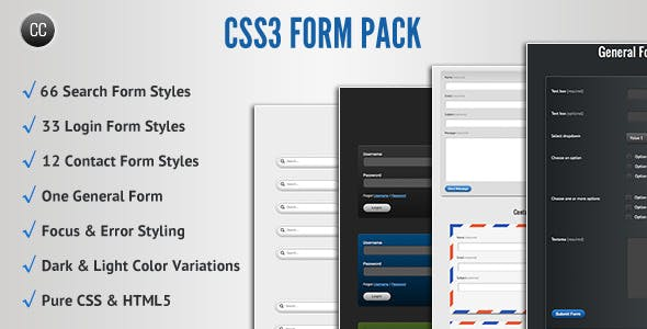 CSS3 Form Pack        Nulled