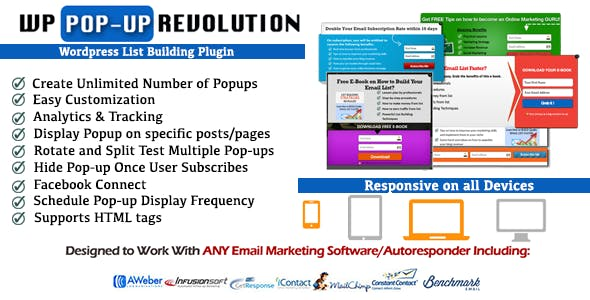 WP PopUp Revolution-Wordpress List Building Plugin