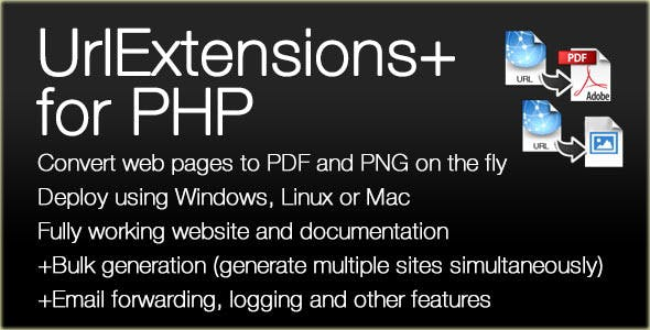 URLExtensions PLUS Website Converter for PDF/PNG
