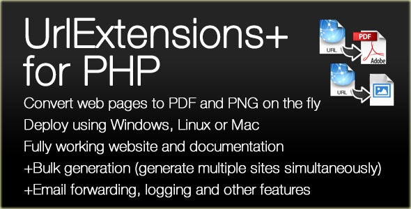 URLExtensions PLUS Website Converter for PDF/PNG - CodeCanyon Item for Sale