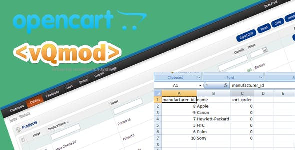 Opencart Export csv Option Vqmod