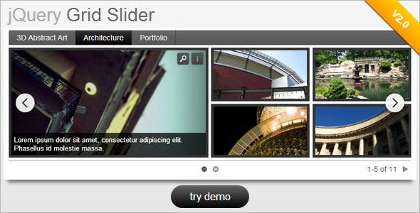 jQuery Grid Style Slider