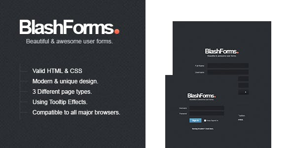 BlashForms - Sign In & Sign Up Form