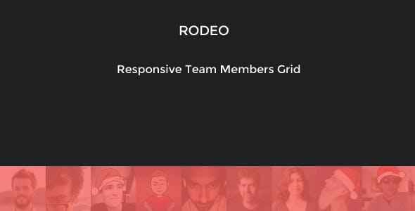 Rodeo - Responsive Team Members Grid Ribbon