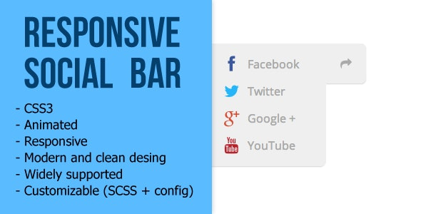 Responsive Social Bar - CodeCanyon Item for Sale
