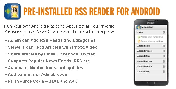 Pre Installed RSS Reader for Android - CodeCanyon Item for Sale