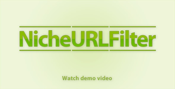 NicheURLFilter - Version 1.0 - CodeCanyon Item for Sale