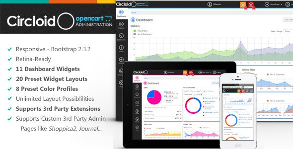 Circloid - Responsive OpenCart Admin Theme - CodeCanyon Item for Sale