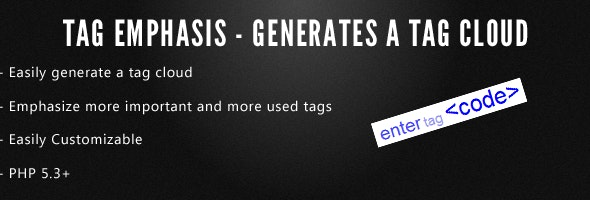 Emphasis Tag Cloud Generator - CodeCanyon Item for Sale