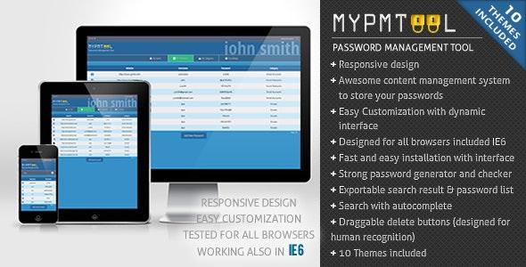 myPMTool - Password Management Tool - CodeCanyon Item for Sale