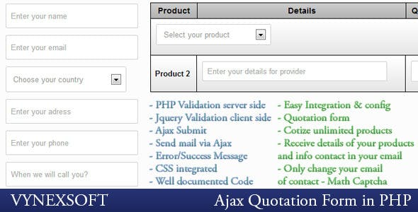 PHP Ajax Quotation Form