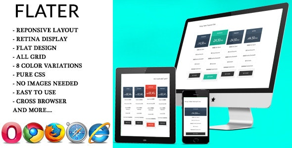 Flater - Flat Pricing Tables - CodeCanyon Item for Sale