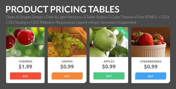 Product Pricing Tables - CodeCanyon Item for Sale