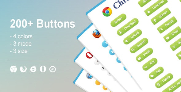 200+ Web Buttons - CodeCanyon Item for Sale