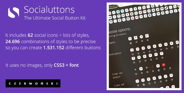 Socialuttons - The Ultimate Social Button Kit - CodeCanyon Item for Sale