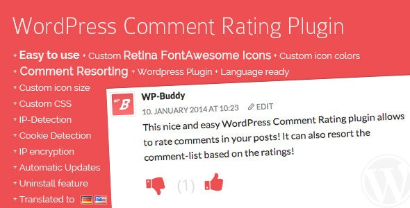 WordPress Comment Rating Plugin - CodeCanyon Item for Sale