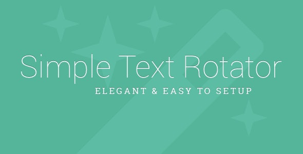 Simple Text Rotator WordPress Plugin - CodeCanyon Item for Sale