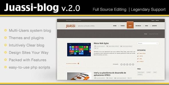 Juassi-Blog v.2.0 - CodeCanyon Item for Sale