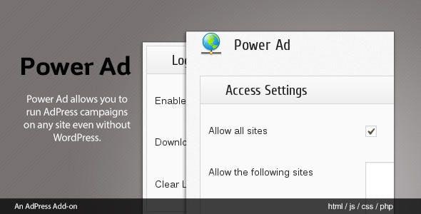 PowerAd - AdPress Addon