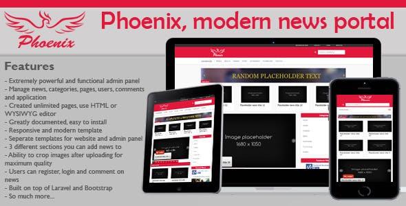 Phoenix, modern & minimalist news portal