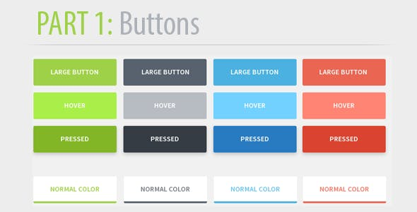 Flattened - Unique CSS3 Button Pack