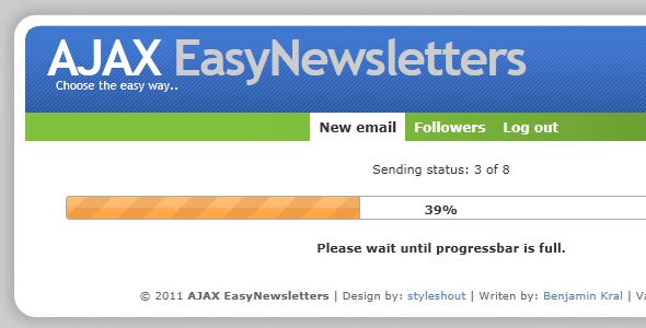 AJAX EasyNewsletters - CodeCanyon Item for Sale