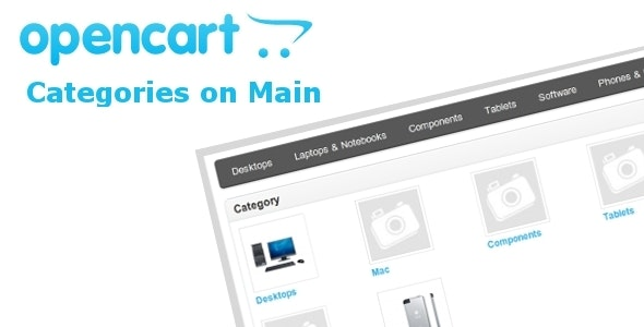 Categories on Main page - CodeCanyon Item for Sale