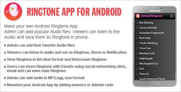 Ringtone App for Android - CodeCanyon Item for Sale