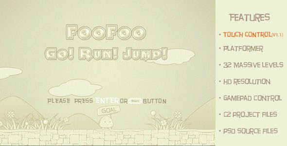 FooFoo Go! Run! Jump!-Traditional 2d platform game