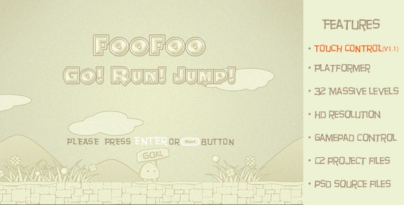 FooFoo Go! Run! Jump!-Traditional 2d platform game - CodeCanyon Item for Sale