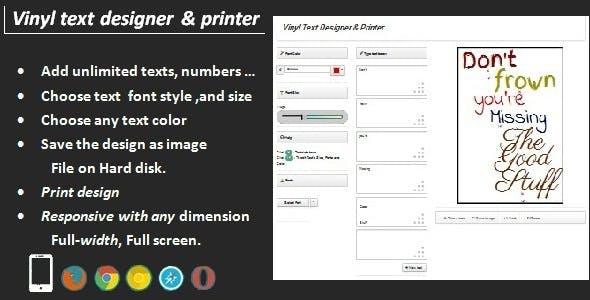 Vinyl Text Designer & Printer