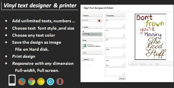 Vinyl Text Designer & Printer by Go-Web | CodeCanyon