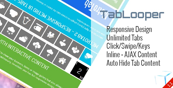 TabLooper - Responsive Loop Tab Metro UI - CodeCanyon Item for Sale