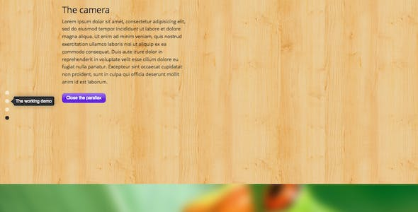 Fullscreen Parallax WordPress Plugin